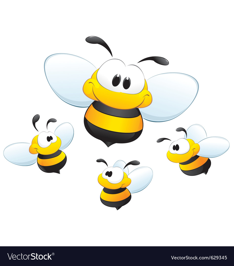 Cute cartoon bees vector | Price: 3 Credit (USD $3)