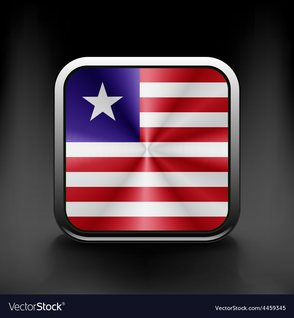 Flag of liberia accurate dimensions vector | Price: 1 Credit (USD $1)