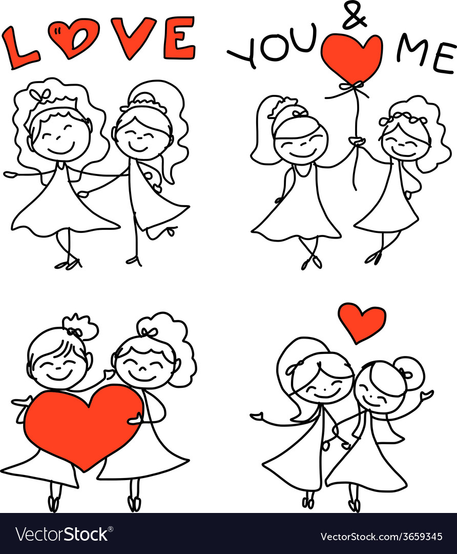 Same sex couple wedding vector | Price: 1 Credit (USD $1)