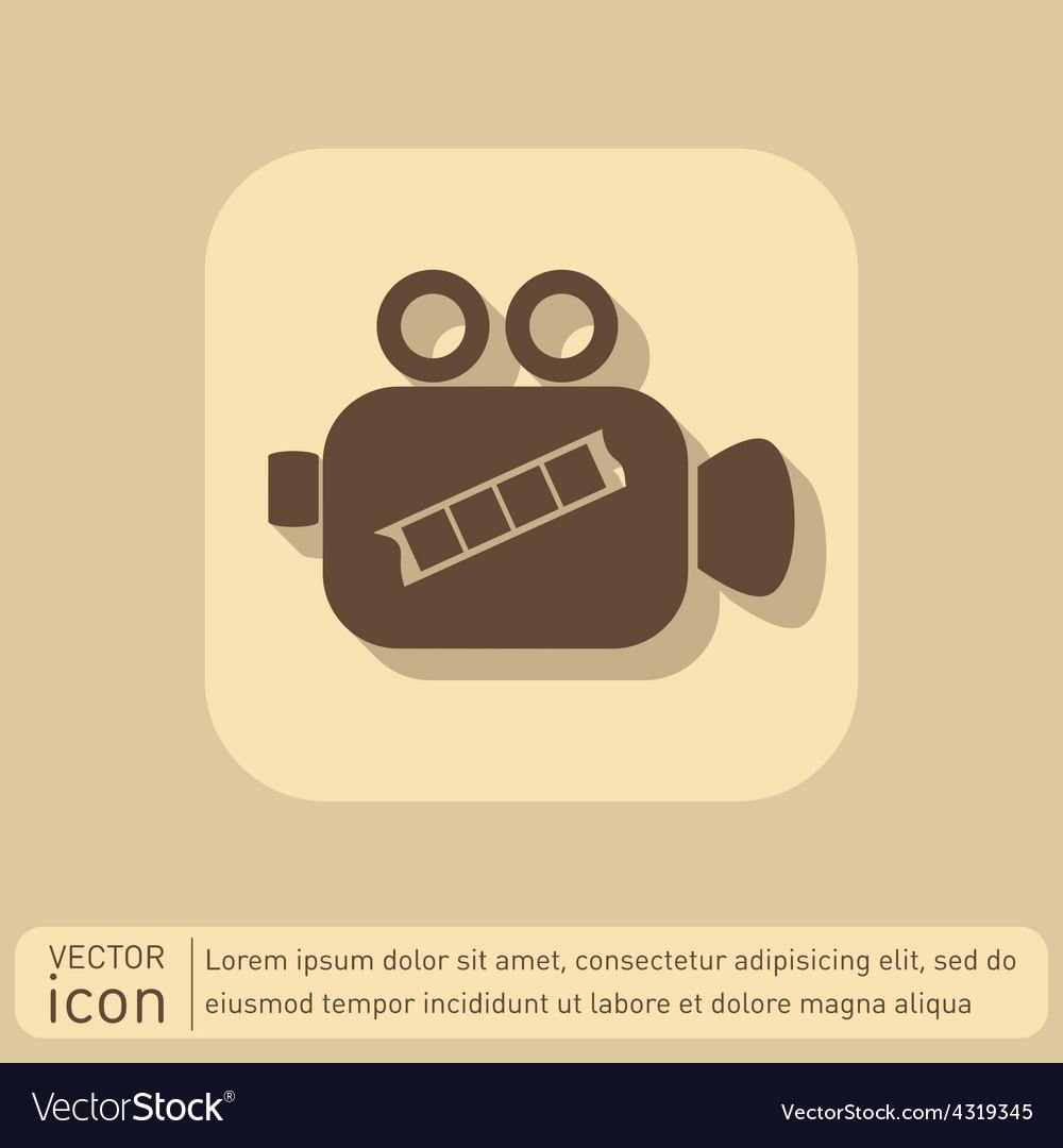 Video camera icon vector | Price: 1 Credit (USD $1)