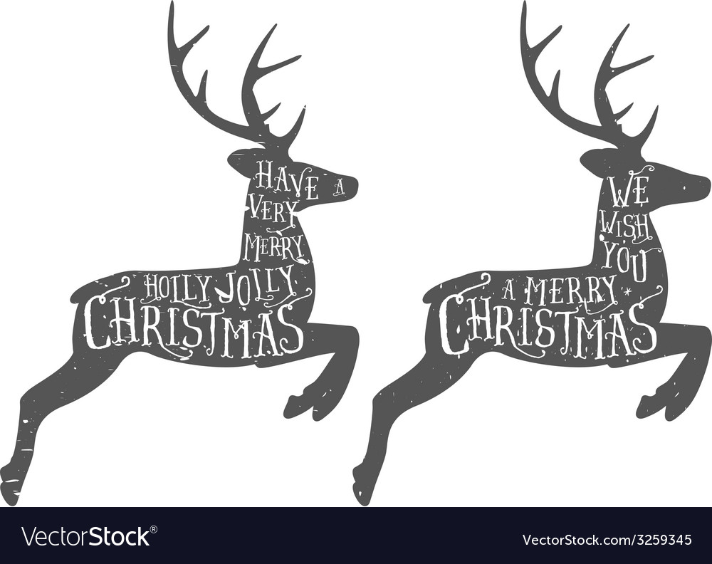 Vintage christmas typographic greeting vector