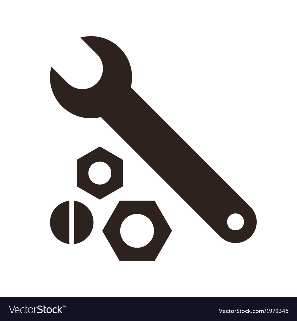 Wrench nuts and bolt icon vector | Price: 1 Credit (USD $1)