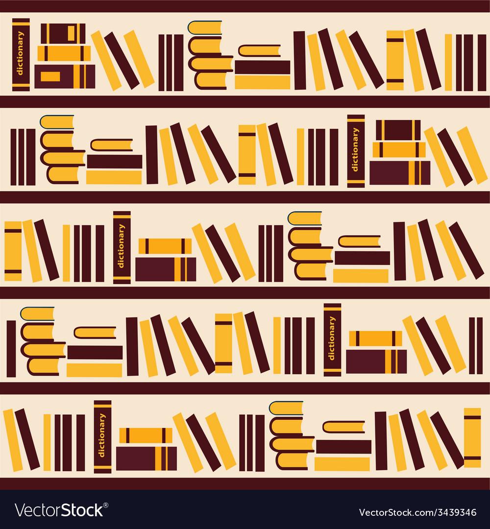 Abstract bookshelf- vector | Price: 1 Credit (USD $1)