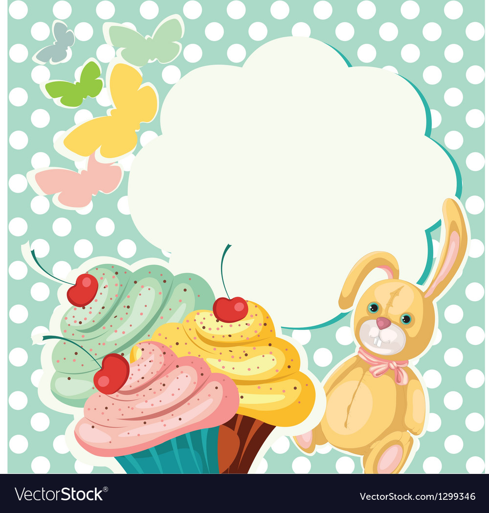 Cake banner vector | Price: 1 Credit (USD $1)