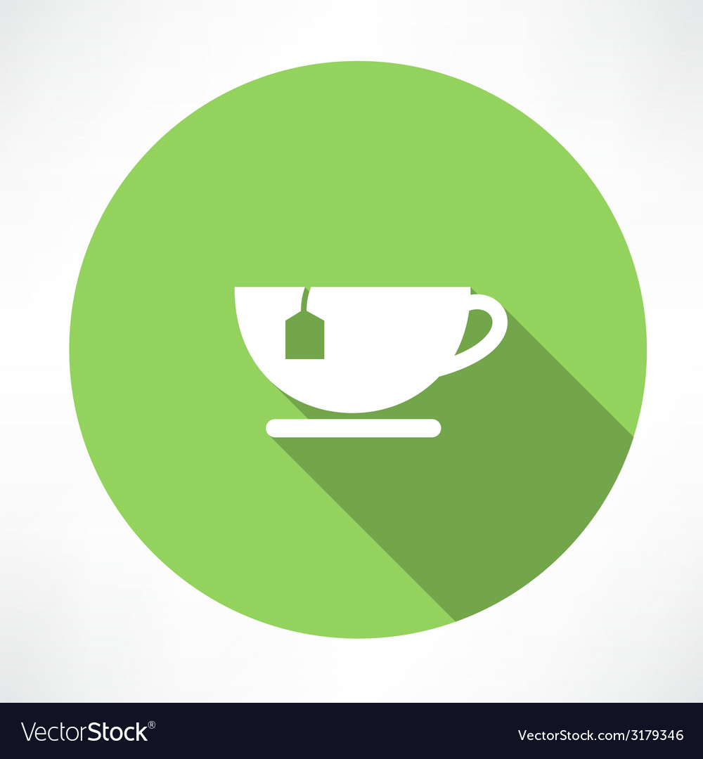 Cup of tea with tea bag vector | Price: 1 Credit (USD $1)