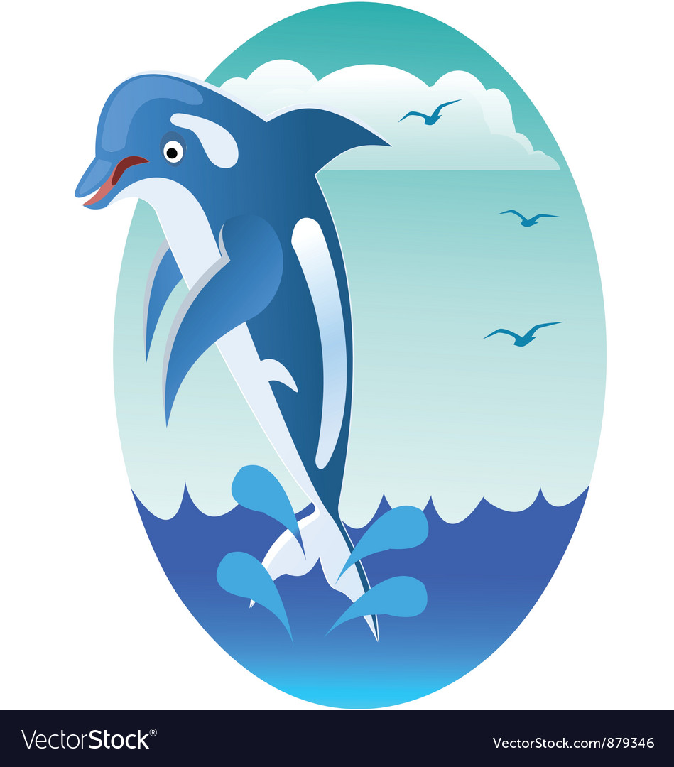 Dolphin jumping vector | Price: 1 Credit (USD $1)