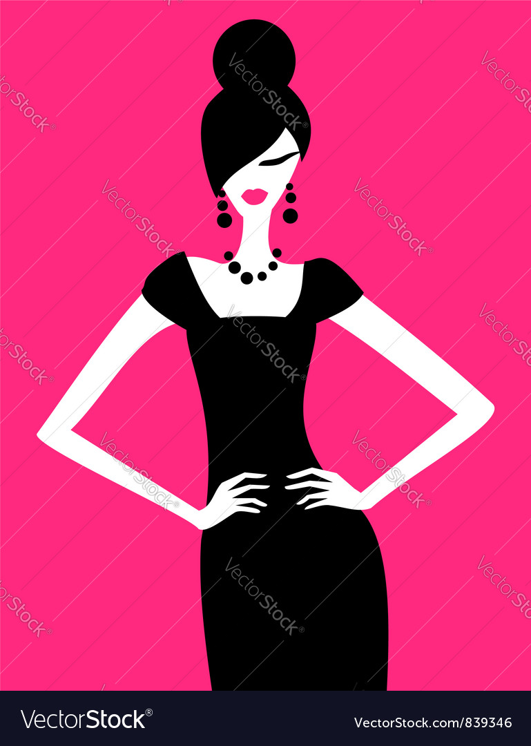 Fashion model vector | Price: 1 Credit (USD $1)