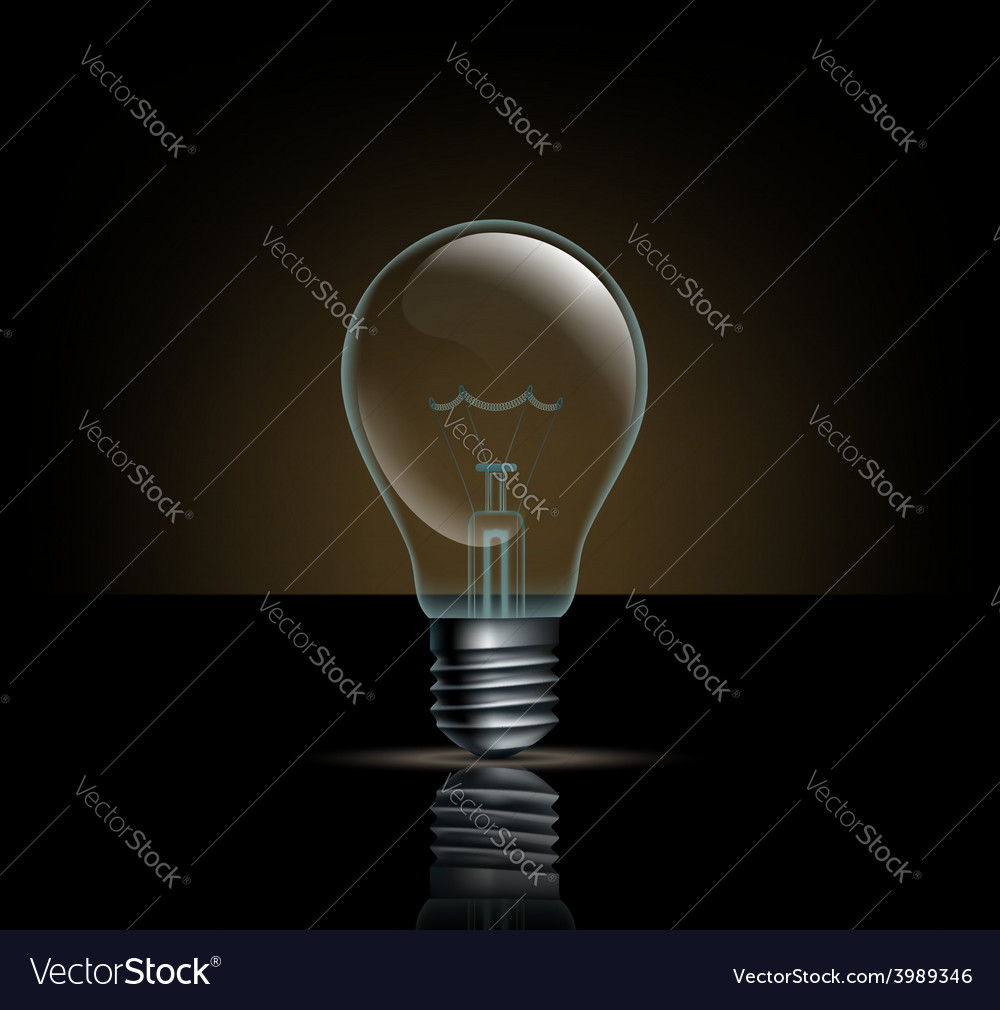 Incandescent lamp on a dark background vector | Price: 1 Credit (USD $1)