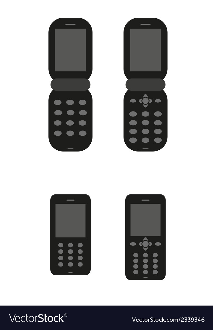 Old classic mobil phones vector | Price: 1 Credit (USD $1)