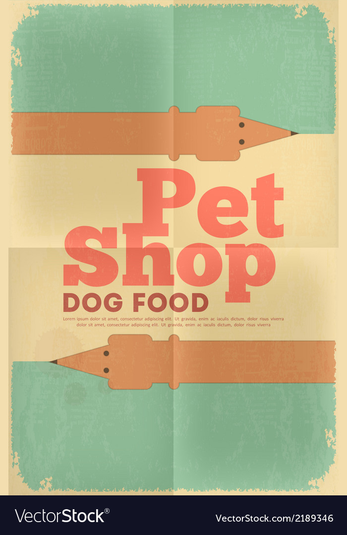 Pet shop poster tax vector | Price: 1 Credit (USD $1)