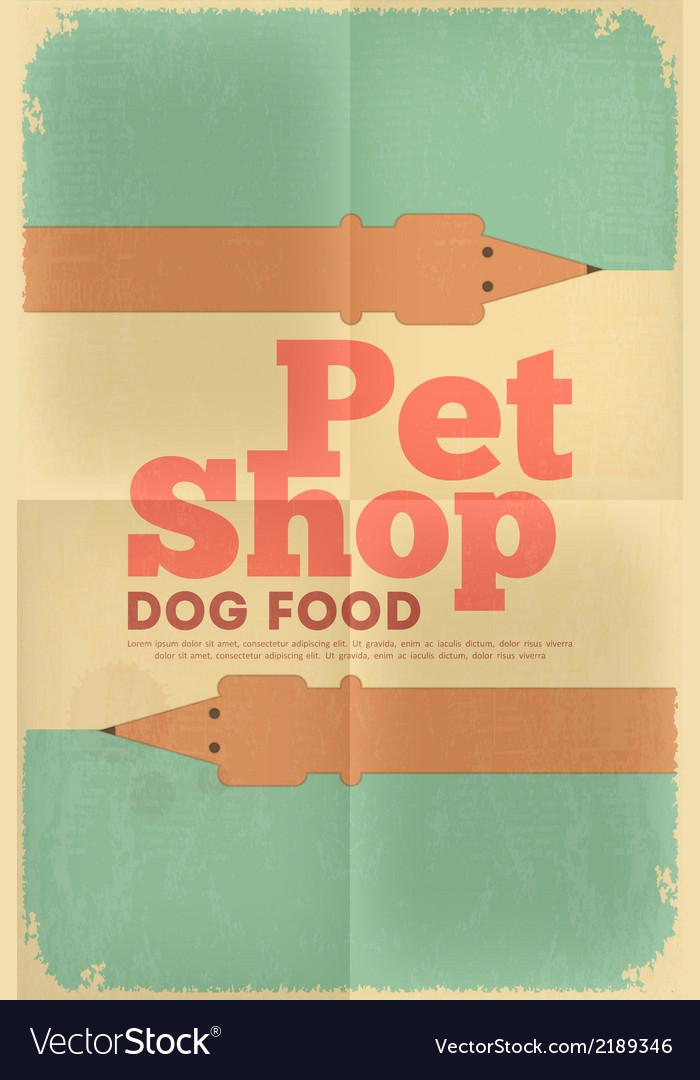 Pet shop poster tax vector | Price: 1 Credit (USD $1)
