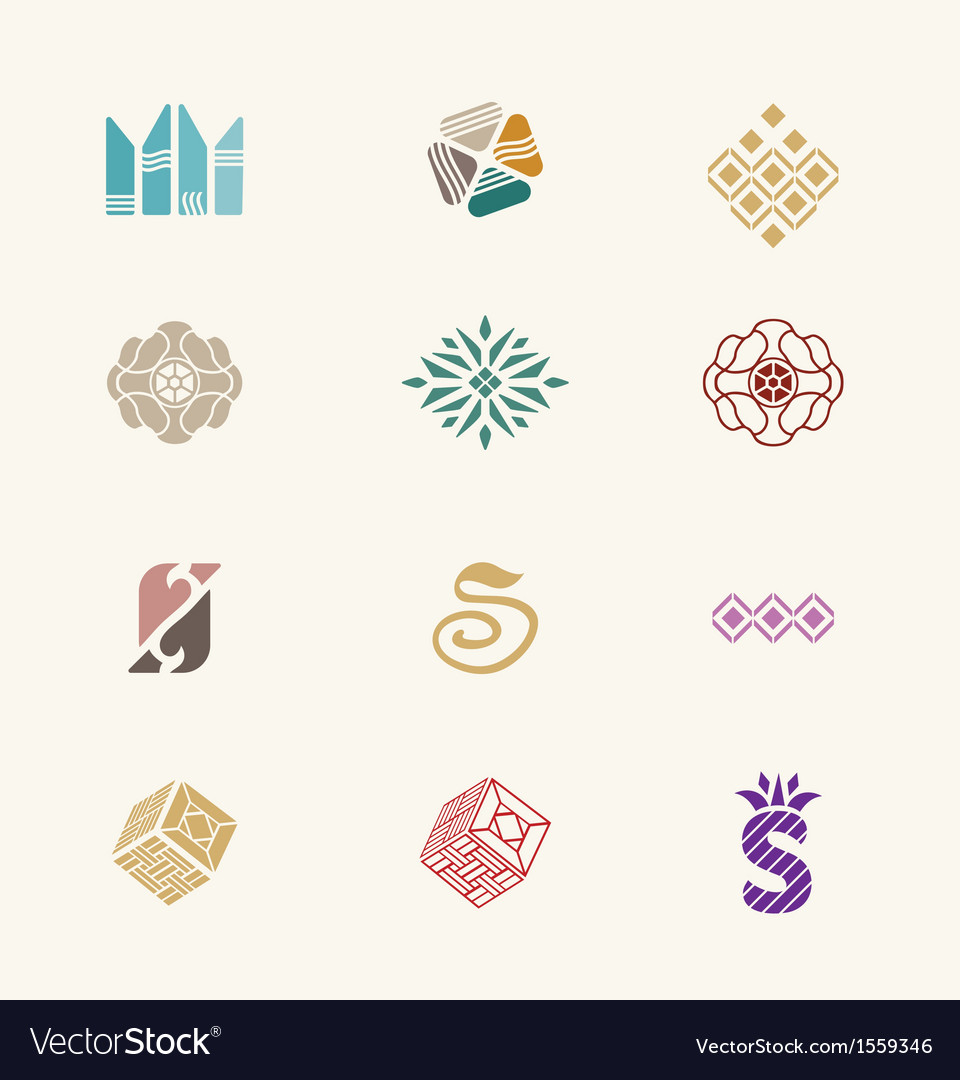 Stone icons set vector | Price: 1 Credit (USD $1)
