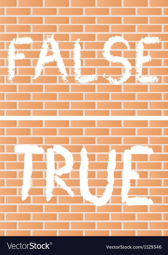 True and false vector | Price: 1 Credit (USD $1)