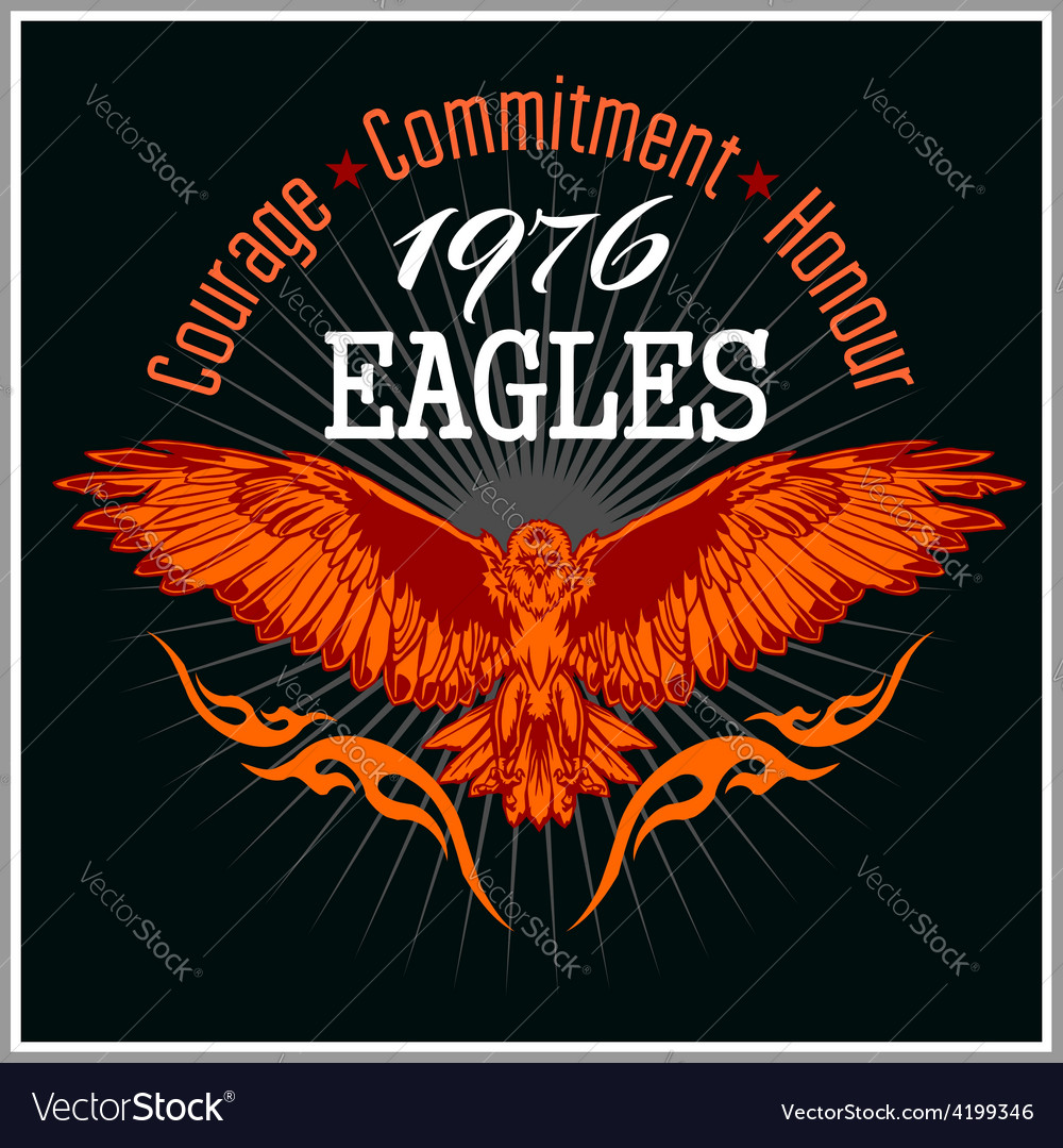 Vintage label eagle - retro emblem vector | Price: 3 Credit (USD $3)