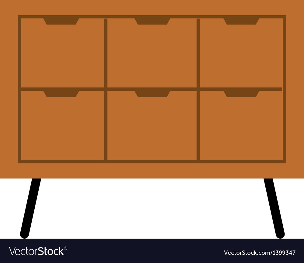 A drawer is placed vector | Price: 1 Credit (USD $1)