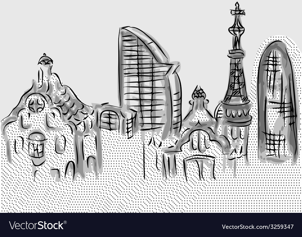 Barcelona vector | Price: 1 Credit (USD $1)