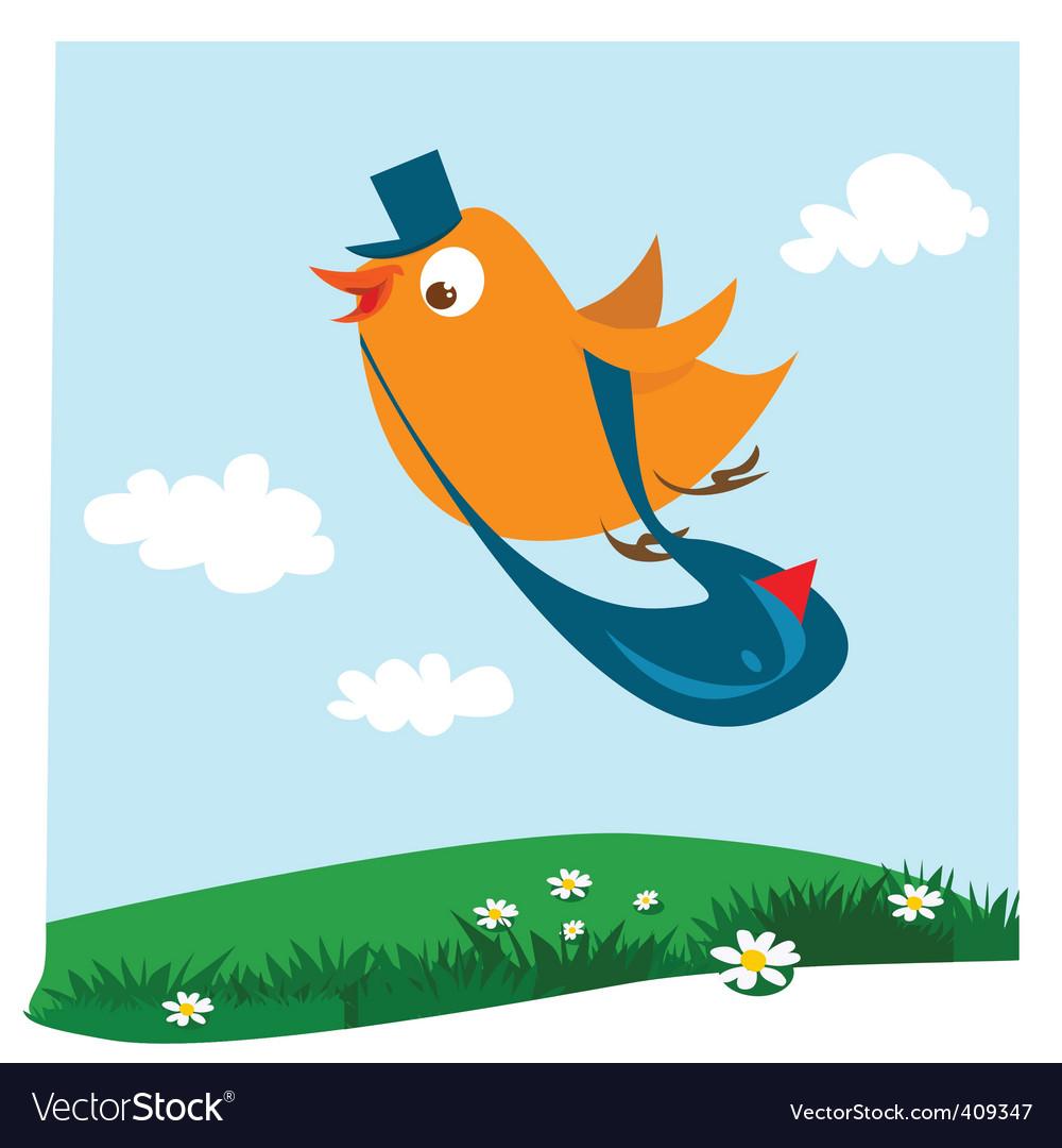 Cartoon bird postman vector | Price: 1 Credit (USD $1)