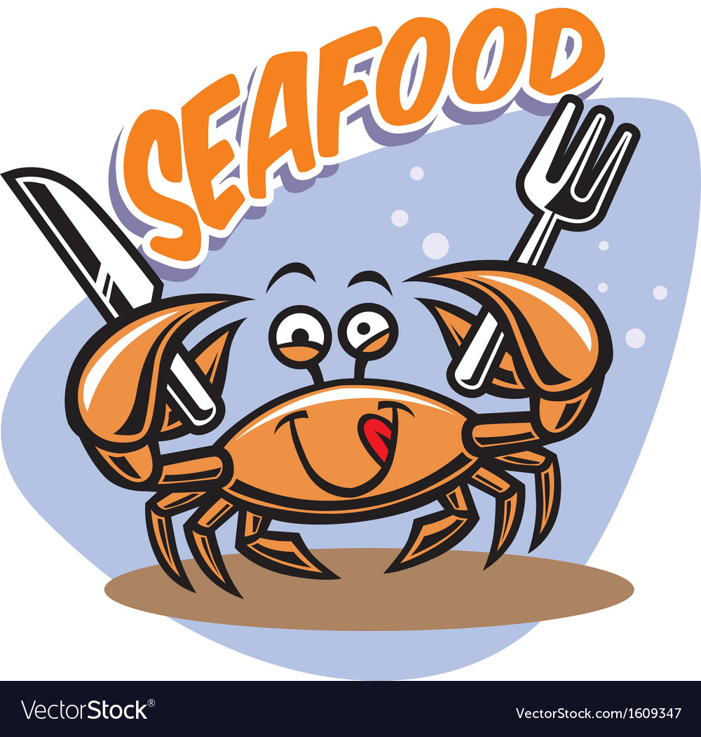 Cute crab mascot vector | Price: 1 Credit (USD $1)