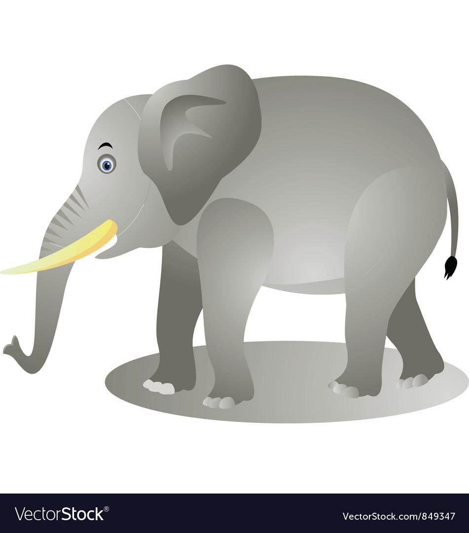 Elephant cartoon vector | Price: 1 Credit (USD $1)