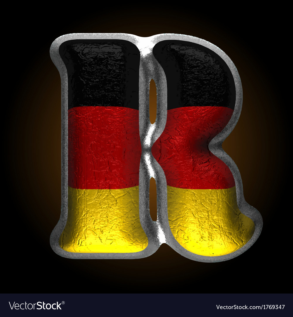 Germany metal figure r vector | Price: 1 Credit (USD $1)