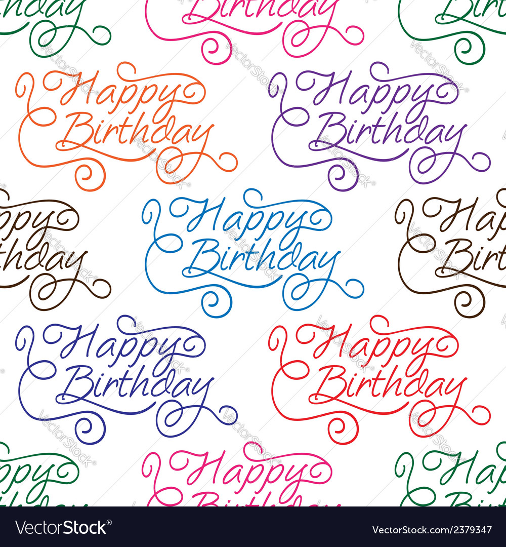Happy birthday seamless background pattern vector | Price: 1 Credit (USD $1)