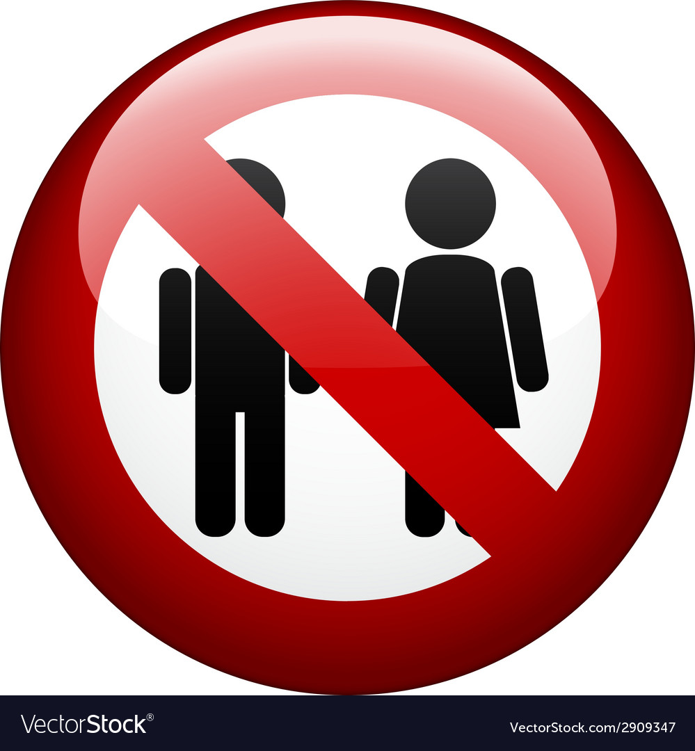 No couple mark vector | Price: 1 Credit (USD $1)