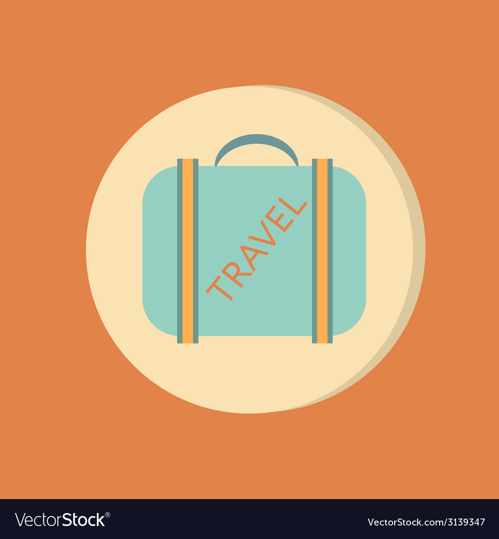 Symbol of a suitcase for travel travel bag vector | Price: 1 Credit (USD $1)