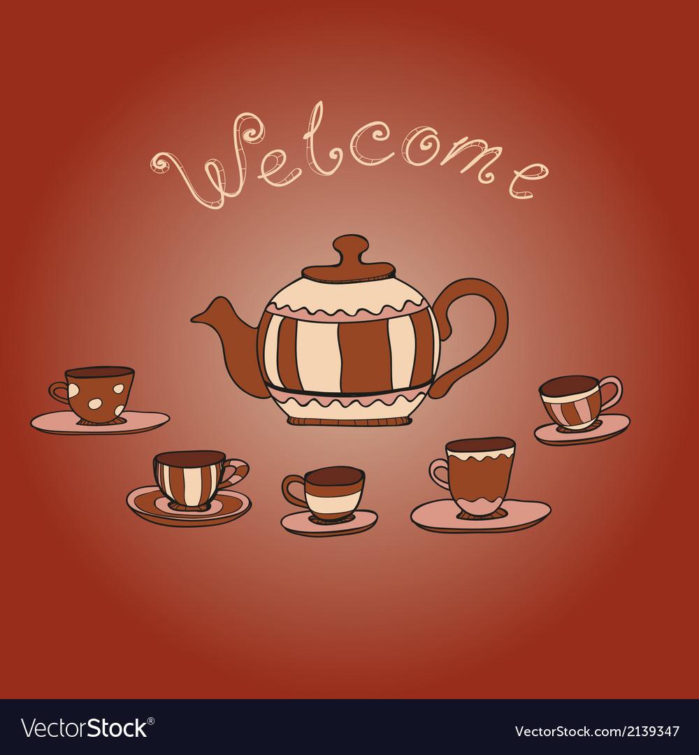 Tea party vector | Price: 1 Credit (USD $1)