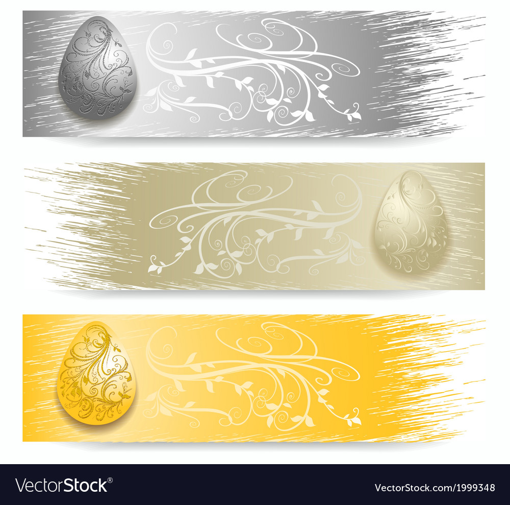 Easter egg banner vector | Price: 1 Credit (USD $1)