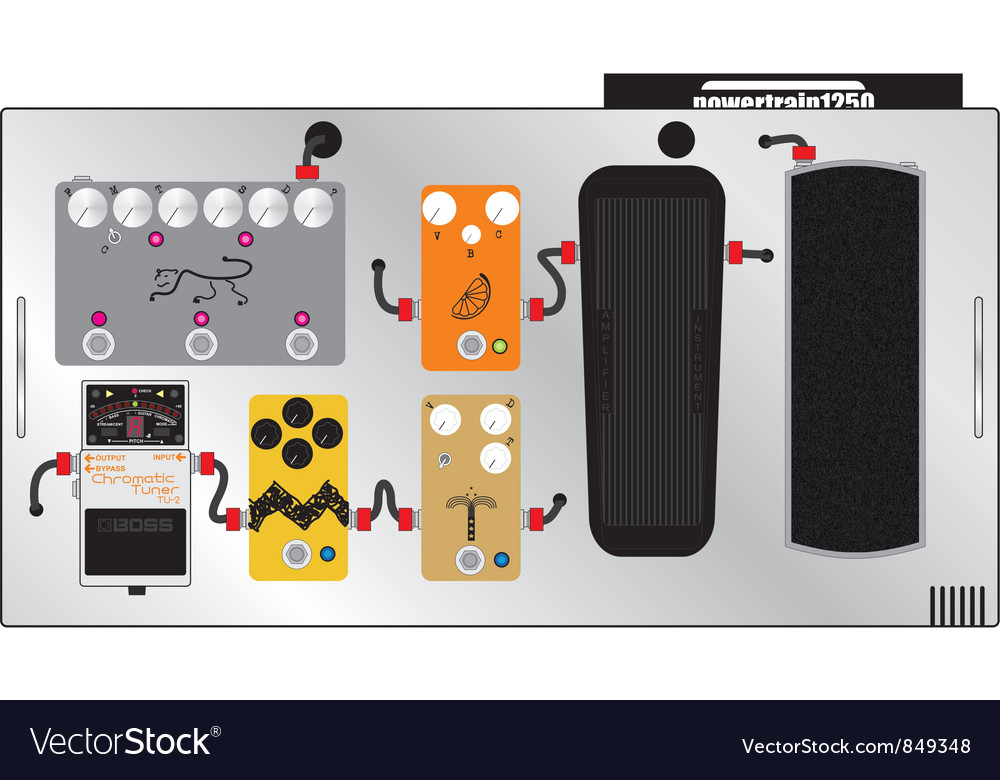 Guitar pedal board vector | Price: 1 Credit (USD $1)