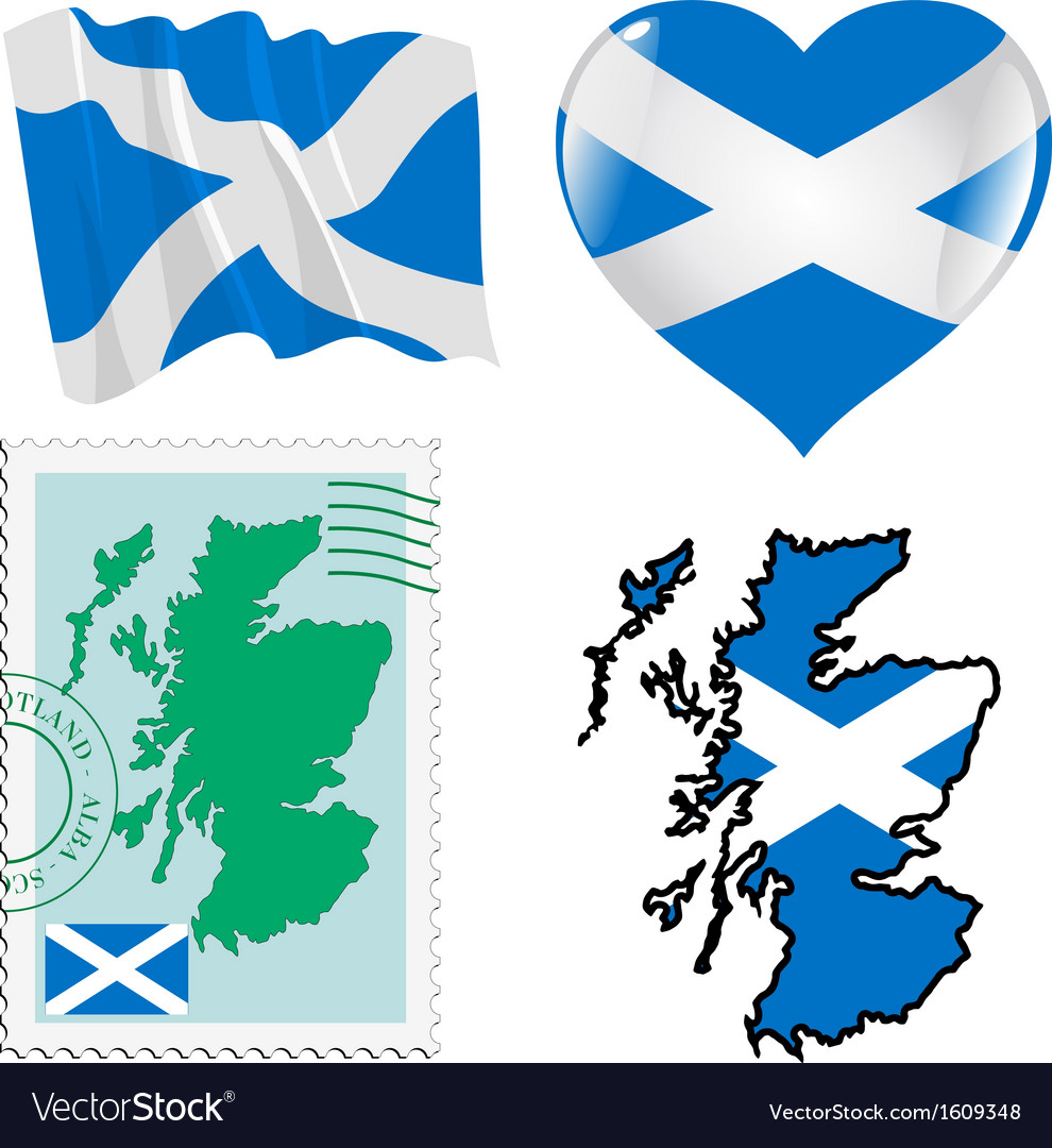 National colours of scotland vector | Price: 1 Credit (USD $1)