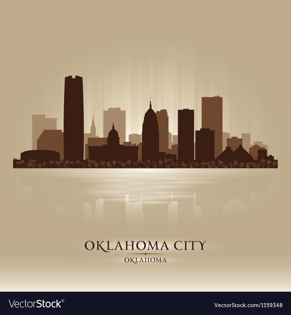 Oklahoma city skyline silhouette vector | Price: 1 Credit (USD $1)