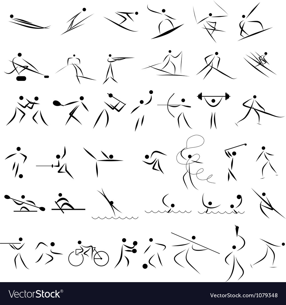 Set of sport icon vector | Price: 1 Credit (USD $1)