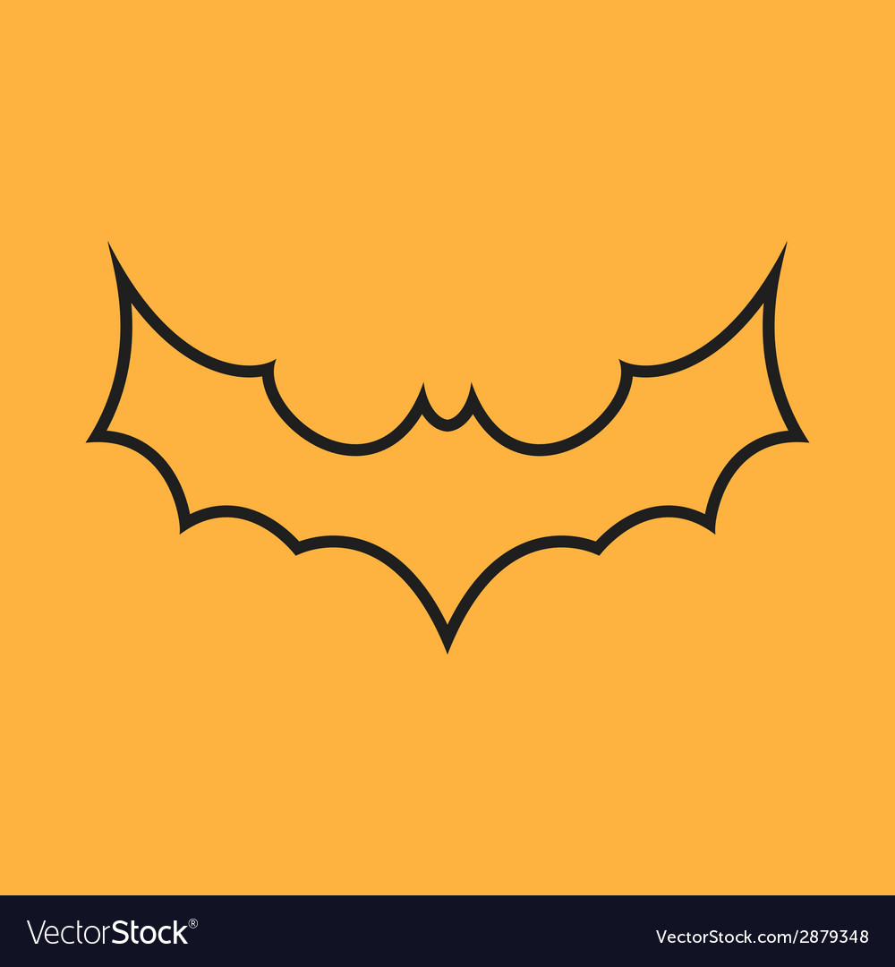 Simple black bat icon vector | Price: 1 Credit (USD $1)