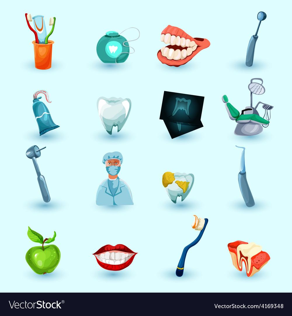 Stomatology icons set vector | Price: 1 Credit (USD $1)