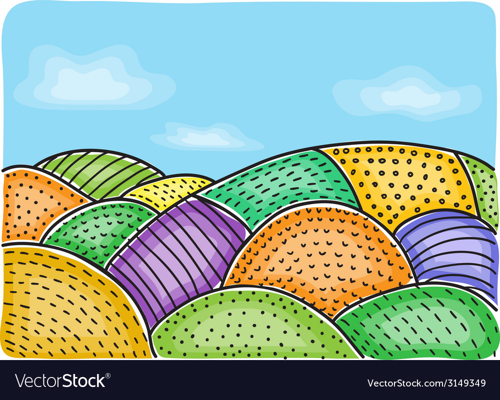 Agricultural fields vector | Price: 1 Credit (USD $1)
