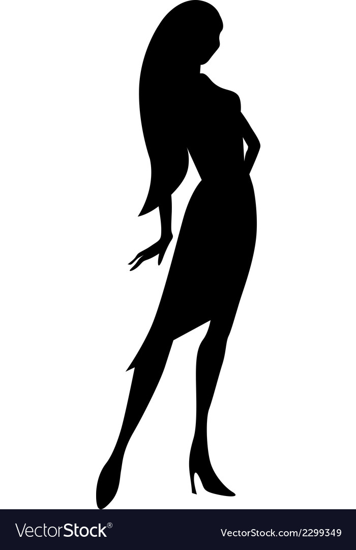Black young woman silhouette vector | Price: 1 Credit (USD $1)