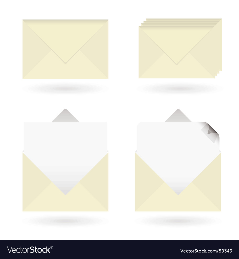 Business envelopes open vector   Price: 1 Credit (USD $1)