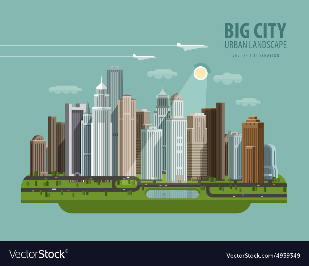 City town megapolis logo design template vector