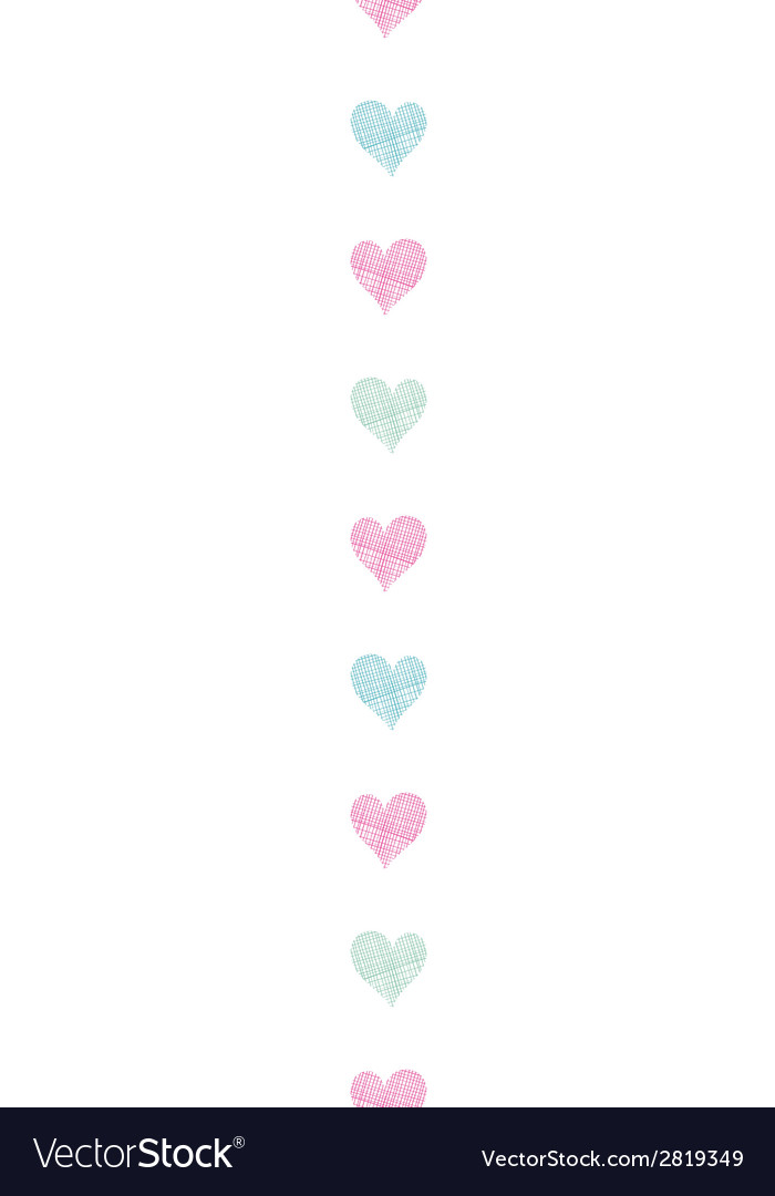 Colorful polka dot textile hearts vertical vector | Price: 1 Credit (USD $1)