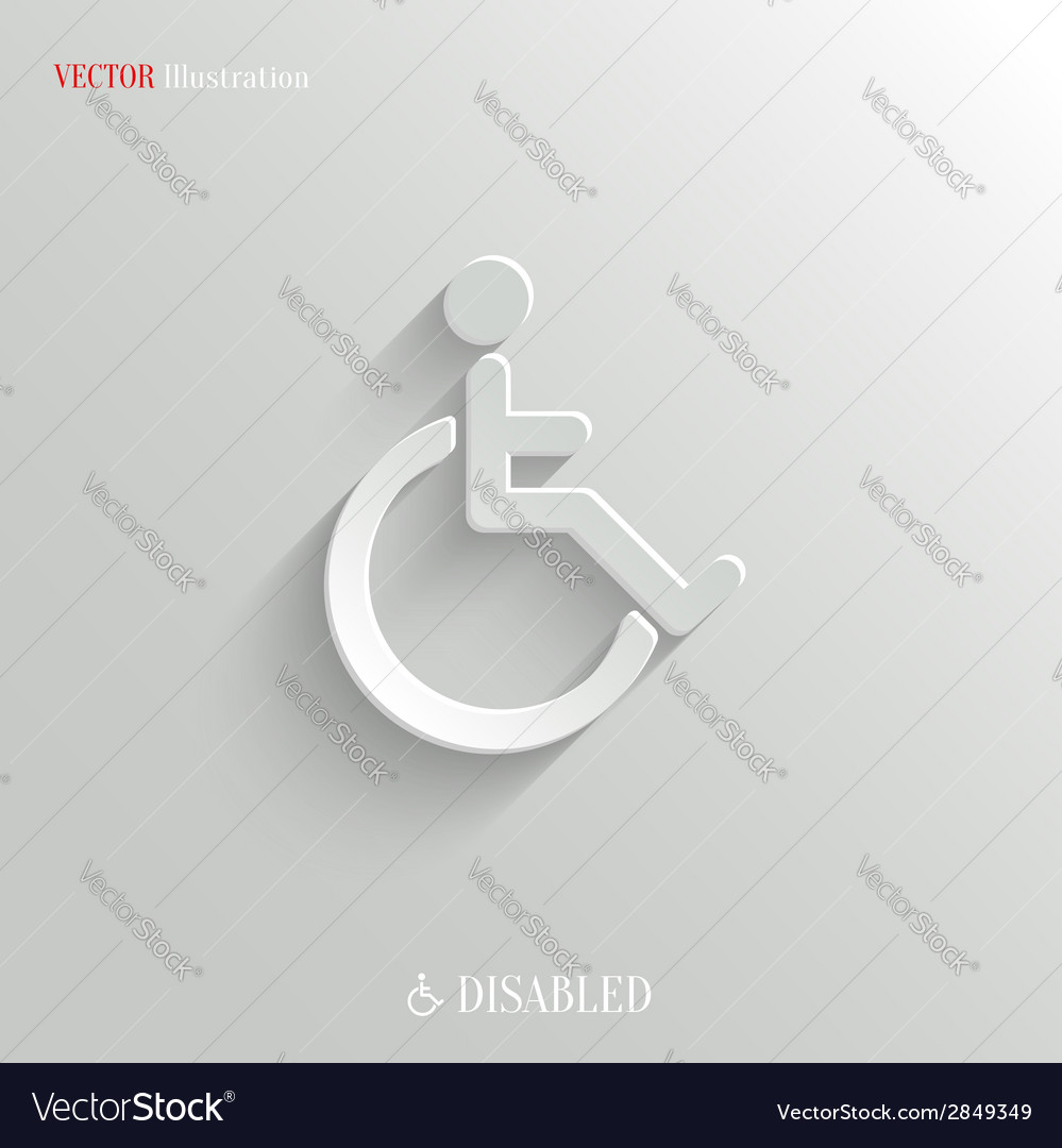 Disabled icon - white app button vector | Price: 1 Credit (USD $1)