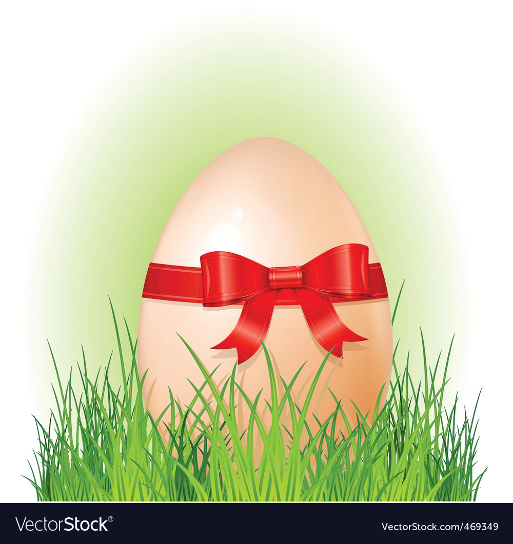 Easter big egg with bow vector | Price: 1 Credit (USD $1)