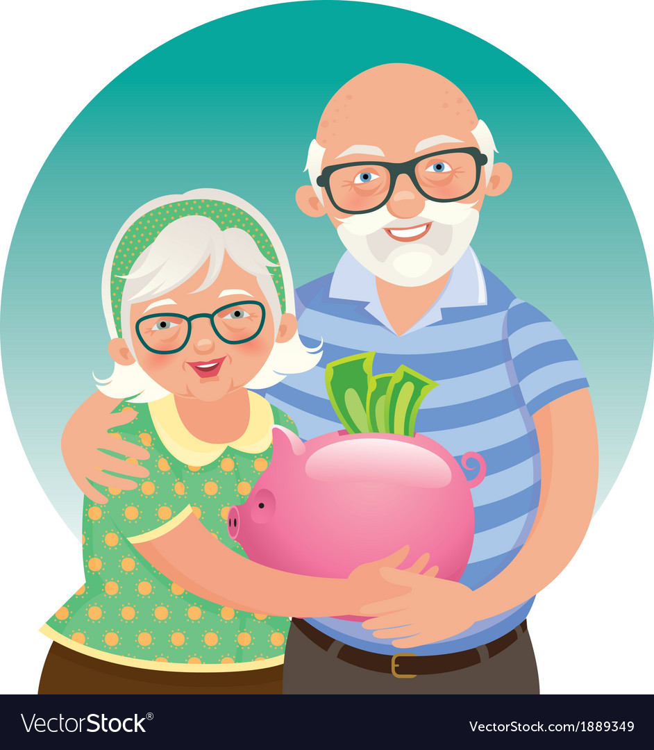 Elderly couple retired vector | Price: 1 Credit (USD $1)