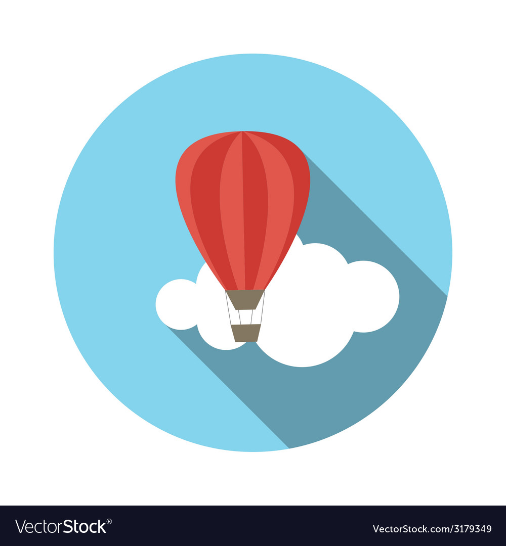 Flat design concept balloon with long shadow vector | Price: 1 Credit (USD $1)