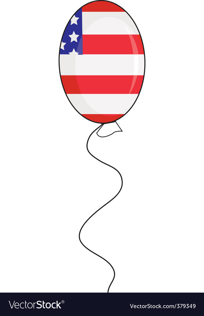 Independence day balloon vector | Price: 1 Credit (USD $1)