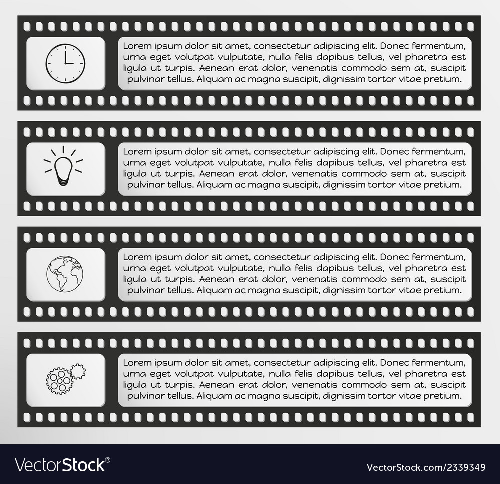 Infographic filmstrip vector | Price: 1 Credit (USD $1)