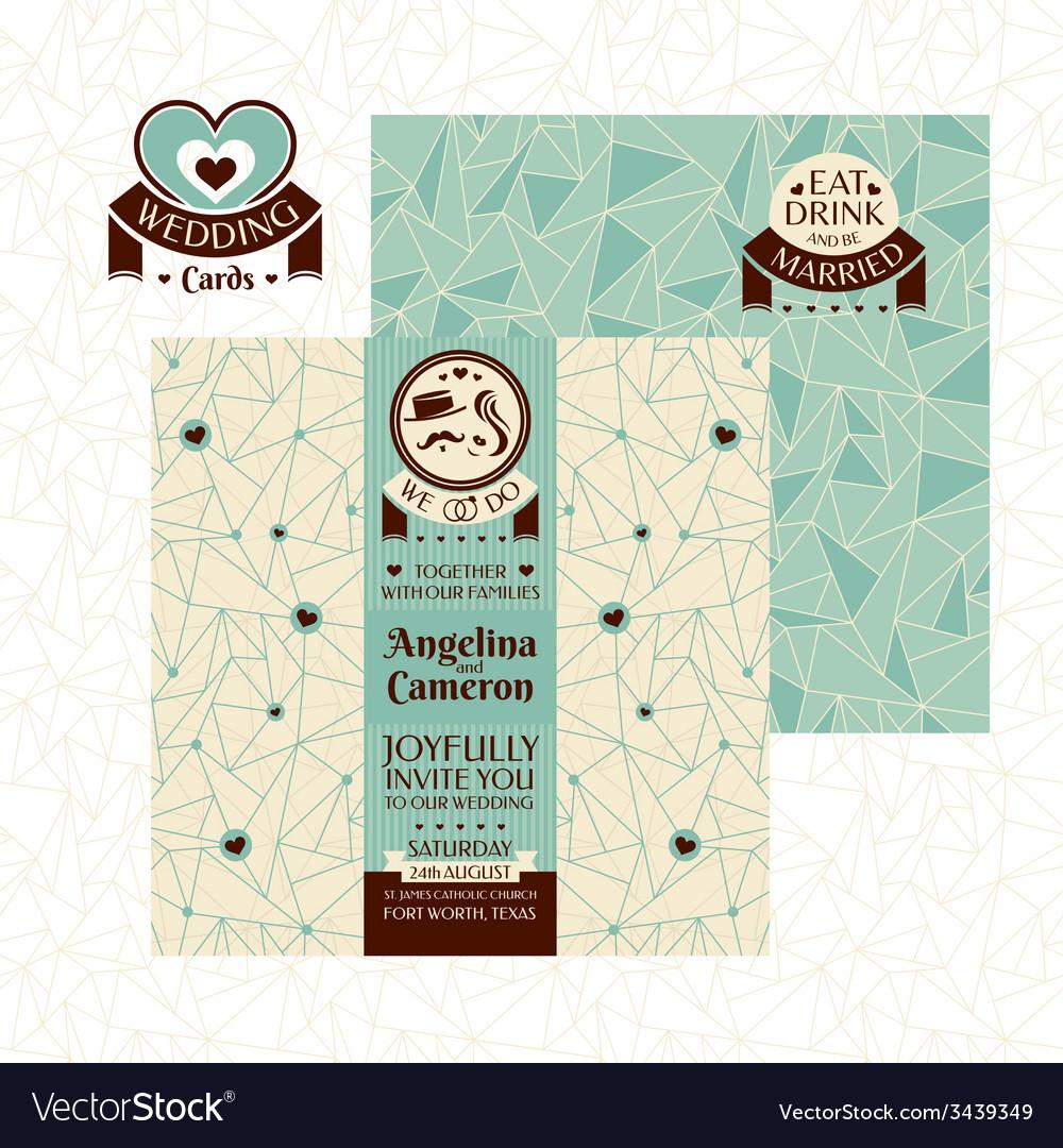 Modern wedding card vector | Price: 1 Credit (USD $1)