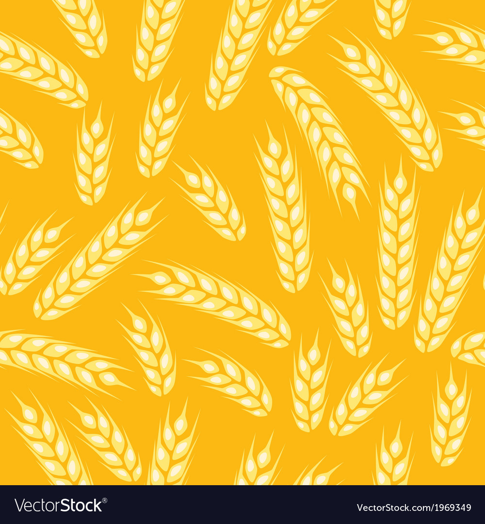 Seamless pattern with ears of wheat vector | Price: 1 Credit (USD $1)