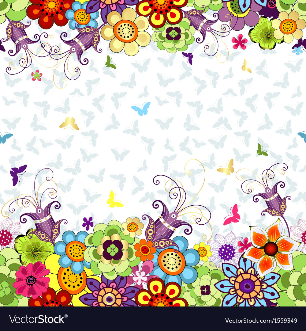 Seamless white floral spring pattern vector | Price: 1 Credit (USD $1)