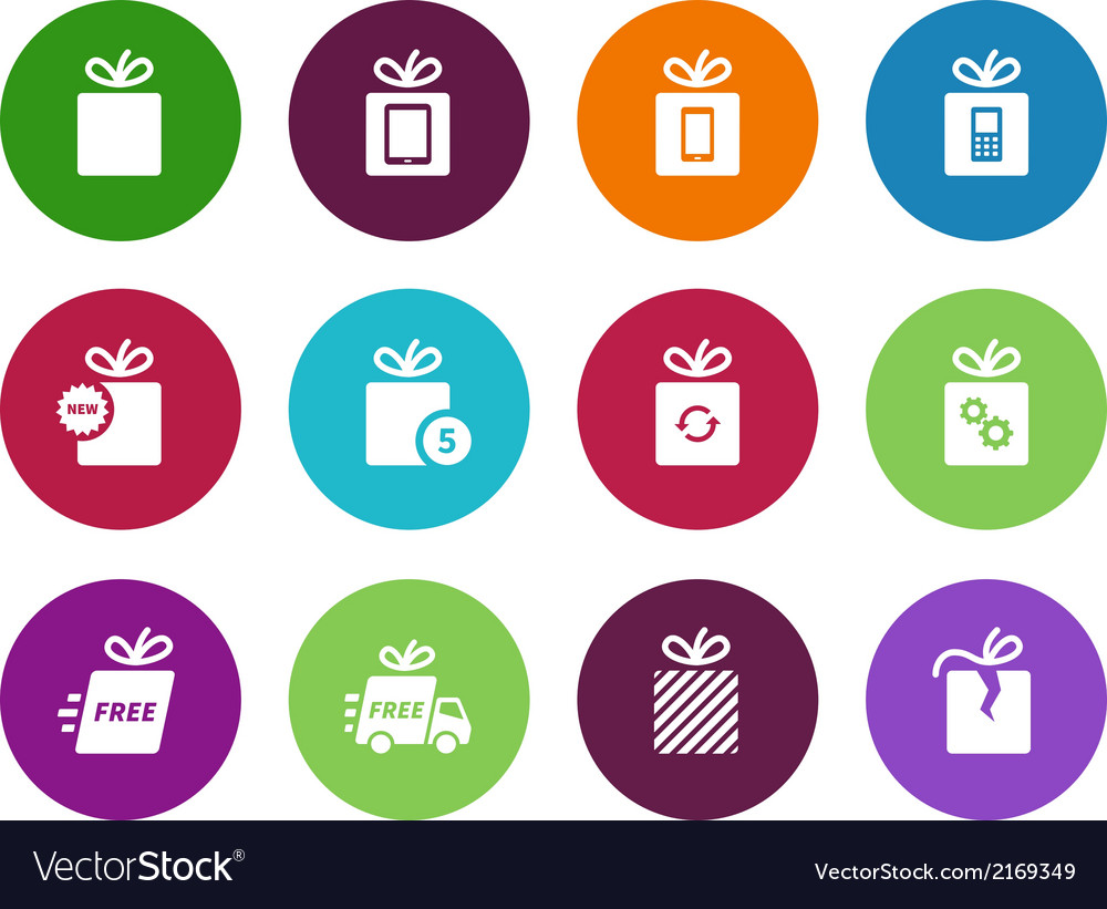 Set gift boxes on white vector | Price: 1 Credit (USD $1)
